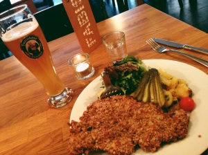 Beer and Schnitzel at Fabisch